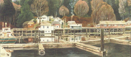 Along the Boardwalk at Telegraph Cove